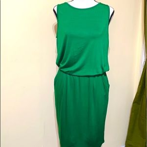 Trina Turk Green Viscose Sleeveless Dress Size S